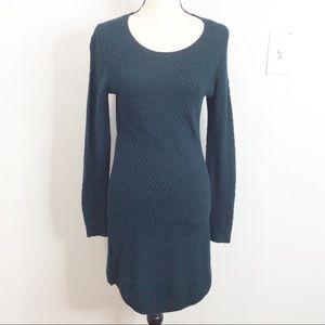 LOFT Hunter Green Knit Sweater Dress
